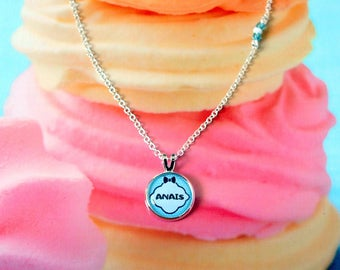 Necklace chain and cabochon personalized with the name of your choice