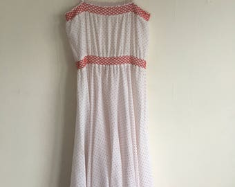 Vintage Polka Dot Spaghetti Strapped Dress