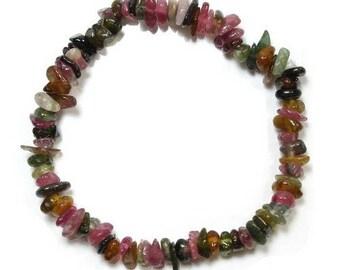 Baroque multicolored tourmaline bracelet