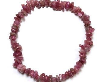 Baroque pink tourmaline (rubellite) bracelet