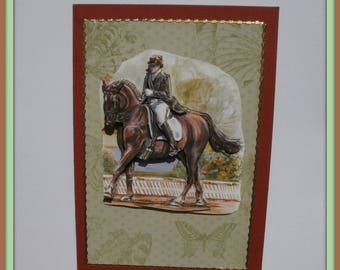 18 greeting card sports riding dressage horse no. 18