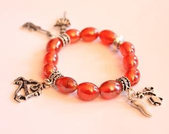 """America"" charm bracelet"
