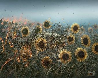 "The Leopard Sun 8x10"" Lustre print"