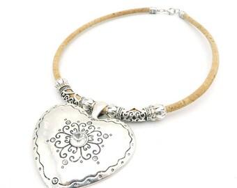 Corky Big Heart Necklace