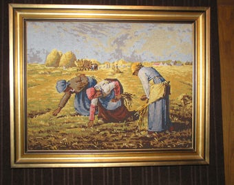 "Painting ""the gleaners"" tapestry millet"