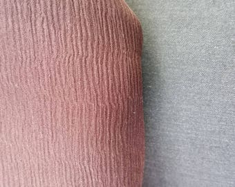 Coupon pure silk dark Burgundy