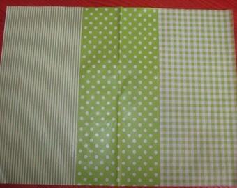 decopatch gingham polka dot green leaf