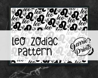 Printable   Zodiac   Leo Pattern  