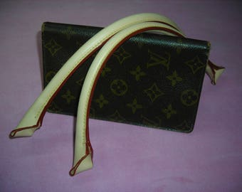 Pair of leather handles natural way LV