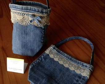Bags of Jean set of 2 for the Easter egg hunt