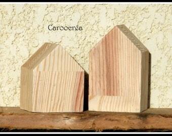 Wood House, Scandinavian home, home decor Scandinavian figurine, decorative House