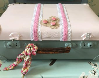 Up Cycled vintage suitcase, Shabby chic, Up cycled, Vintage suitcase