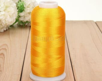 Yellow 1 reel 5000 m thread sewing sewing Polyester within 15 days