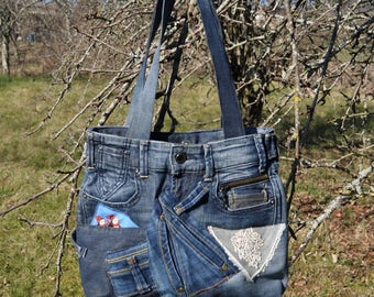 Purse jeans recycled very fancy and feminine