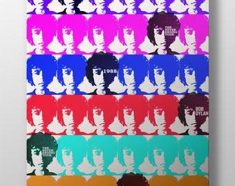 Multicolor Bob Dylan Tour Poster
