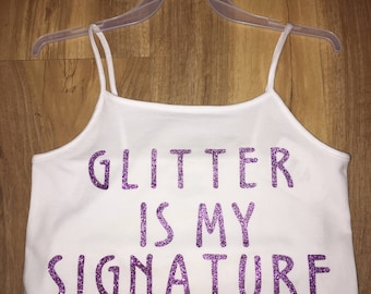 cute white tank top with saying