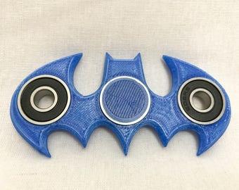 Batman hand spinner/fidget spinner/fidget toy/cool fidgets/3d printed/spinner toy/desk toy/gift for him/gift for her/birthday gift/batarang