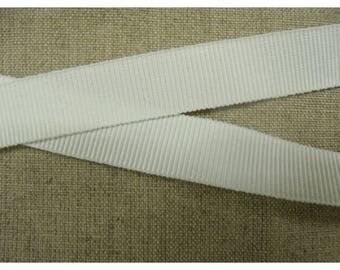 Ribbon grosgrain decorative 15 - white off