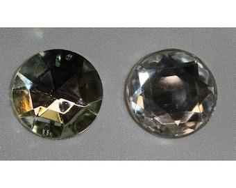 round rhinestone - 25 mm-silver