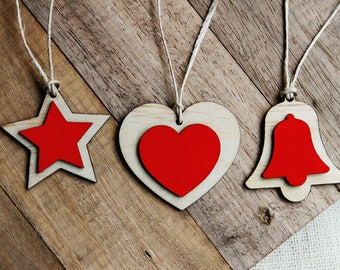 Rustic Christmas decorations - Wooden decorations | Christmas decor