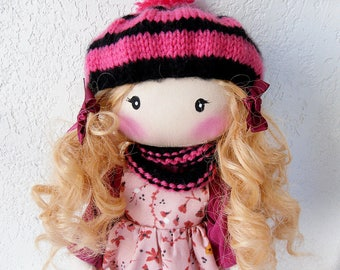 Rag doll * Rose * handmade unique creation
