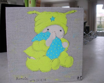 """decorative painting """"blankie"""" for kids room"""