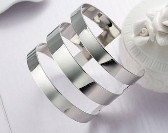Bracelet Tendance Manchette Géométrique Argenté -