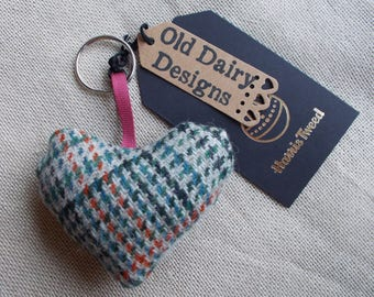 Vintage Harris Tweed key ring