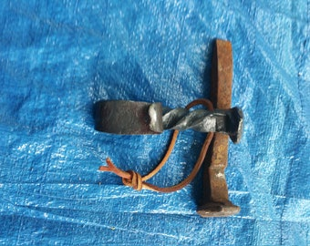 Hand Forged Railroad Spike Bottle Opener