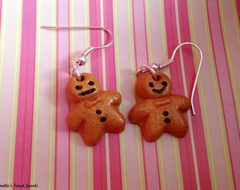 Earrings small snowman gingerbread