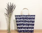 Large size - Insulated lunch bag, shopping bag, alpaca print,penguin print, corgi print, duck print,waterproof