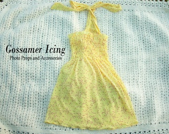 Child/Baby Summer Yellow Sheer Halter Top/Dress