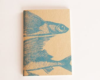 Drawing book, flying fish notebook