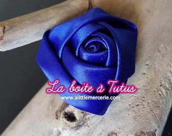 Applique pink satin fabric flower diy for bustier headband ★ belt ★ RS2 - Royal Blue