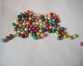 Bright colored 6 mm glass beads