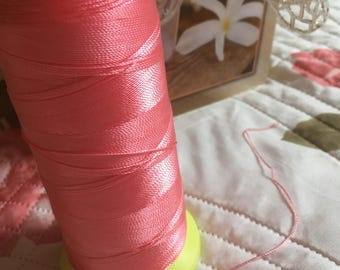 Pink wire or cord for macrame. 0.5 mm.