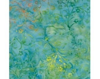 turquoise yellow ref kf07c6 batik patchwork fabric