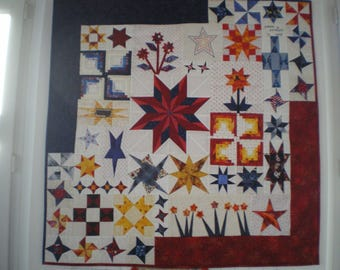This wall stars in blue, yellow, Red