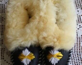 slippers sheep wool