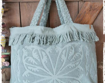 Maxi Beach fringed bag mint