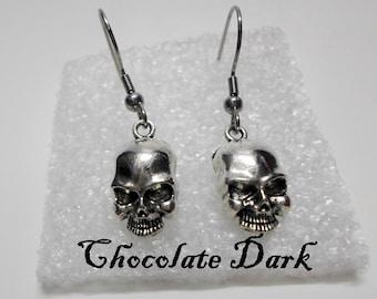 Skull Earrings Punk Rock Goth