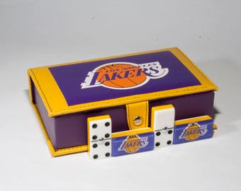 Los Angeles Lakers Domino 100% Acrylic, Faux Leather Case