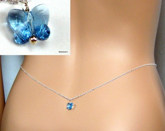 Size sterling silver chain and swarovski N3451