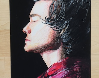 Harry Styles drawing - print
