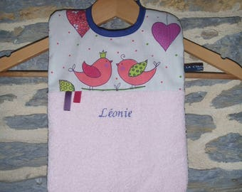 Large bib for baby (23 * 30 cm) customizable to order