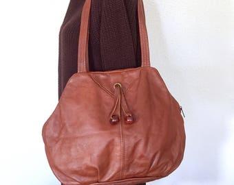 Tan Brown Leather handbag