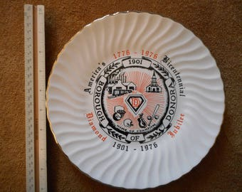 Donora, Pennsylvania Diamond Jubilee Commemorative Ceramic Plate