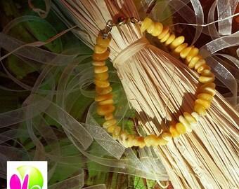 Bracelet made of genuine amber yellow muti - tone