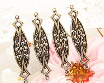 2 x chandelier print spacers 925 vintage chandelier style silver plated brass ornate 38 x 9