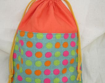 Back: bag for school or nursery - round pattern blanket Groovy - customized on request